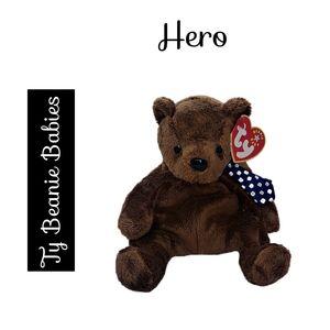 🔴 15/$25. Ty Beanie Babies ~ Here the Brown Bear